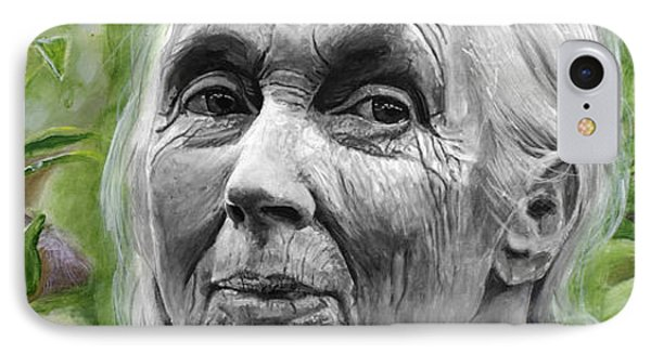 Jane Goodall IPhone Case by Simon Kregar