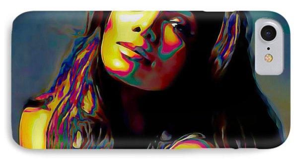 Janet Jackson IPhone Case by  Fli Art