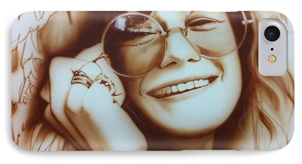 Janis Joplin - ' Janis ' IPhone Case by Christian Chapman Art