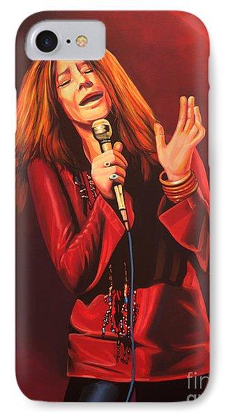Janis Joplin Painting IPhone Case by Paul Meijering