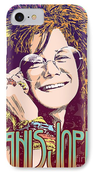 Janis Joplin Pop Art IPhone Case by Jim Zahniser