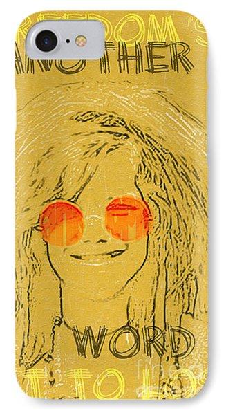 Janis Joplin Song Lyrics Bobby Mcgee IPhone Case