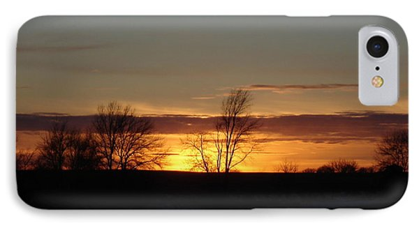 January 13th Sunset IPhone Case by J L Zarek