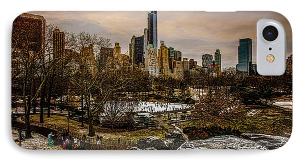 January At Central Park South IPhone Case by Chris Lord