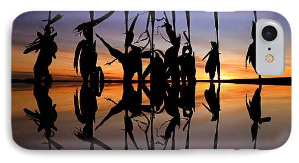 IPhone Case featuring the photograph January Cornstalks by Jaki Miller
