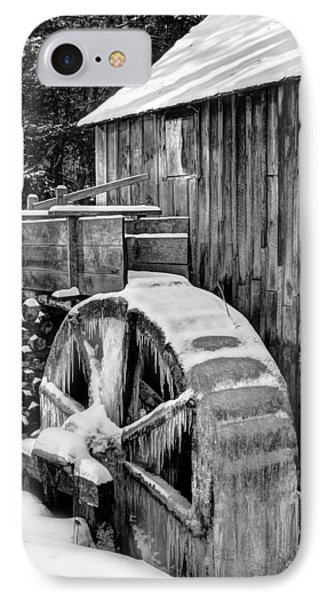 January Grist Mill IPhone Case by Michael Eingle