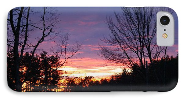 IPhone Case featuring the photograph January Sunset by Lois Lepisto
