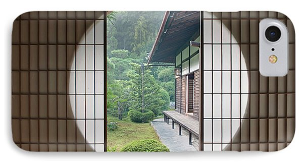 Japan, Kyoto, Sesshuji Temple, Tea IPhone Case by Rob Tilley