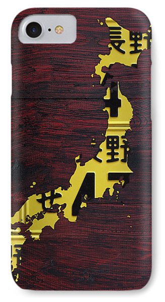 Japan License Plate Map IPhone Case by Design Turnpike