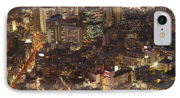 Japan, Tokyo, View Of Rappongi Hills IPhone Case by Tips Images