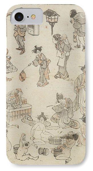 Japanese Bathing IPhone Case