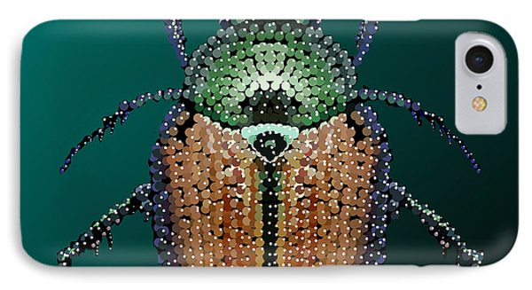 Japanese Beetle Bedazzled II IPhone Case by R  Allen Swezey