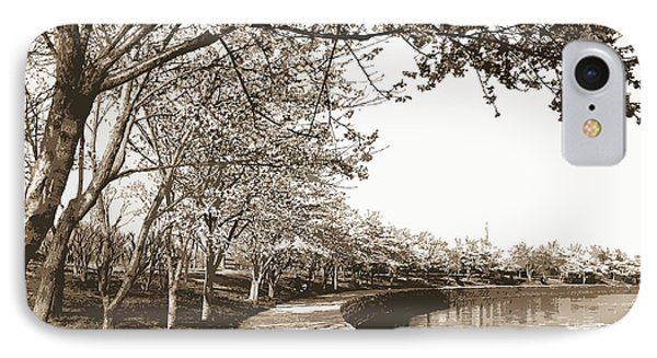 Japanese Cherry Blossoms, Cherry Trees, Waterfronts IPhone Case by Litz Collection