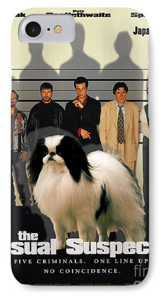 Japanese Chin Art Canvas Print - The Usual Suspects Movie Poster IPhone Case by Sandra Sij