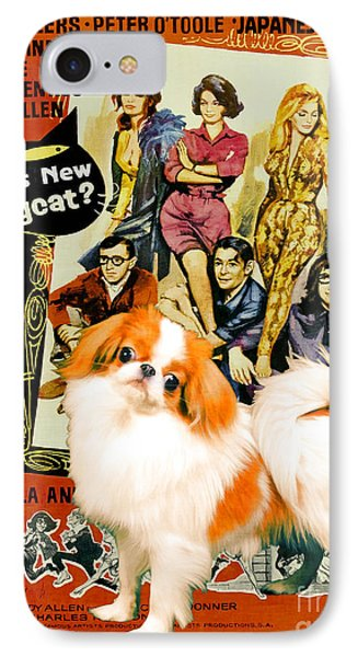 Japanese Chin Art Canvas Print - Whats New Pussycat Movie Poster IPhone Case by Sandra Sij