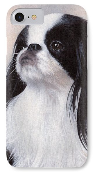 Japanese Chin Painting IPhone Case by Rachel Stribbling