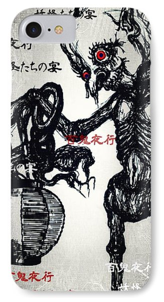 Japanese Creatures IPhone Case by Akiko Okabe