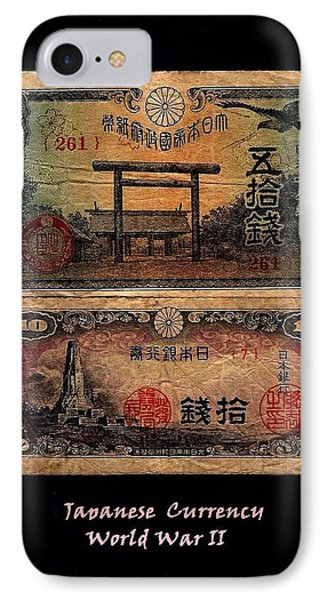 Japanese Currency From World War II Phone Case by Diane Strain