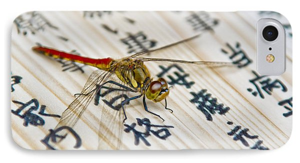 Japanese Dragonfly IPhone Case by Matthew Bamberg
