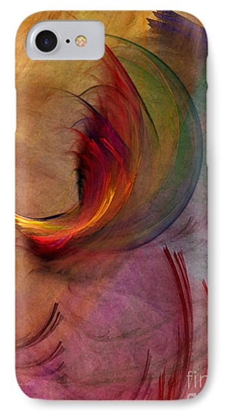 Japanese Garden-abstract Art IPhone Case by Karin Kuhlmann
