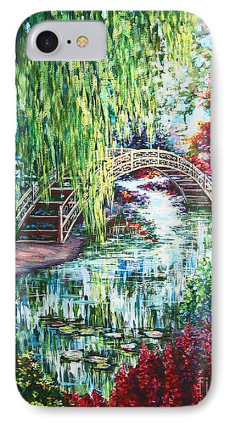 IPhone Case featuring the painting Japanese Garden by Cheryl Del Toro