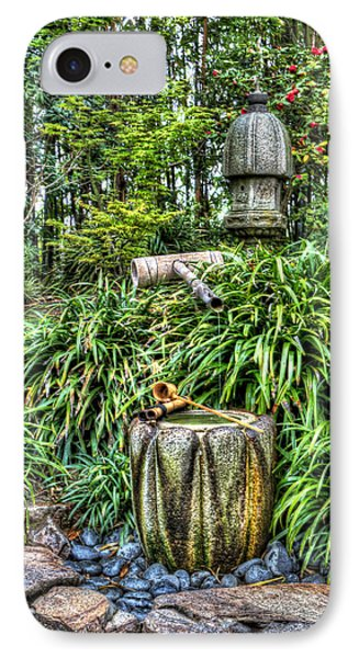 Japanese Garden Fountain Phone Case by Heidi Smith
