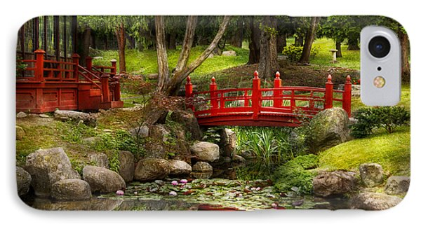 Japanese Garden - Meditation IPhone Case by Mike Savad