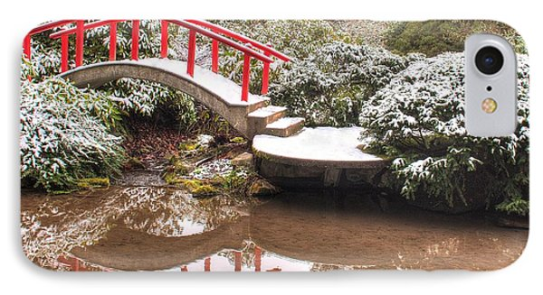 IPhone Case featuring the photograph Japanese Garden Snowfall 2 by Jeff Cook