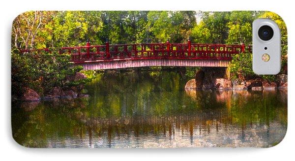 Japanese Gardens Bridge Phone Case by Debra and Dave Vanderlaan