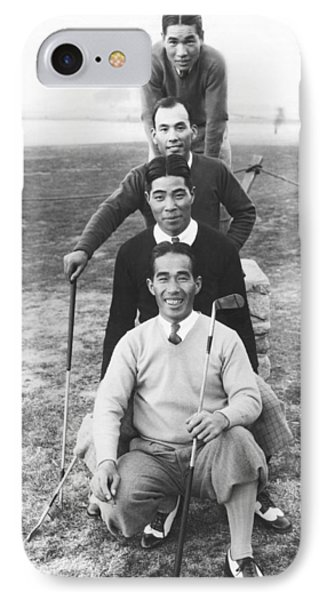 Japanese Golfers In America IPhone Case by Underwood Archives
