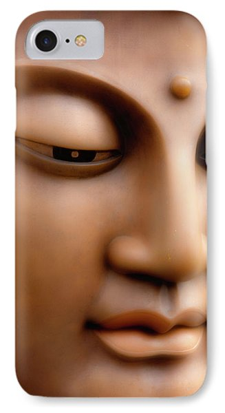 Japanese Great Buddha Face IPhone Case by Sheila Haddad