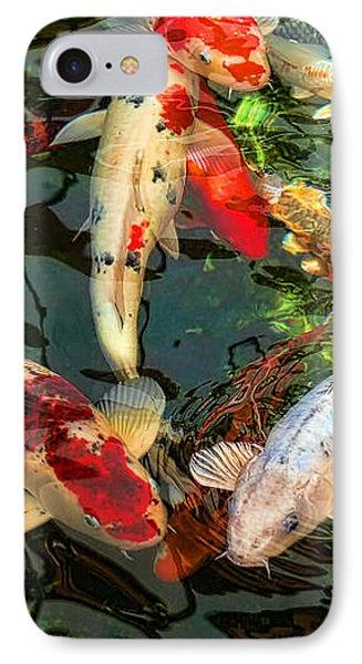 Japanese Koi Fish Pond IPhone 7 Case by Jennie Marie Schell