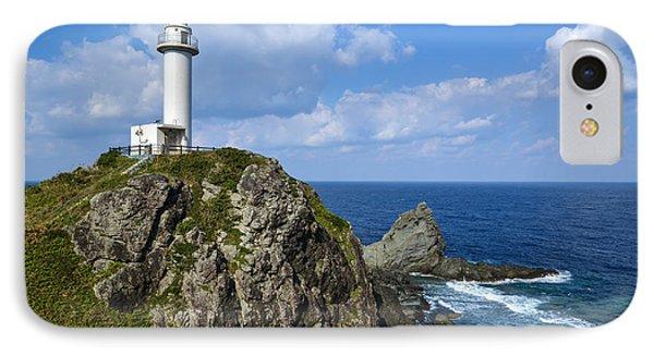 Japanese Lighthouse At Uganzaki IPhone Case by Kennerth and Birgitta Kullman