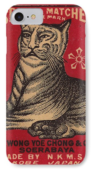 Japanese Matchbox Label With Tiger Phone Case by Nop Briex