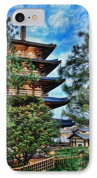 Japanese Pagoda II IPhone Case