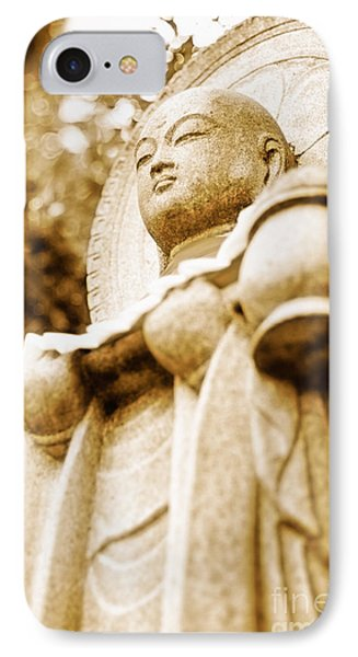 Japanese Statue - Jizo - Guardian Of Children In Japan Phone Case by David Hill