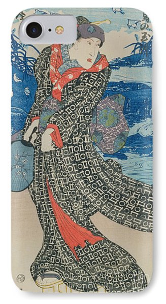 Japanese Woman By The Sea Phone Case by Utagawa Kunisada