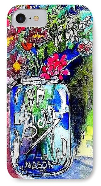 Jar And Flowers Two Phone Case by Esther Woods