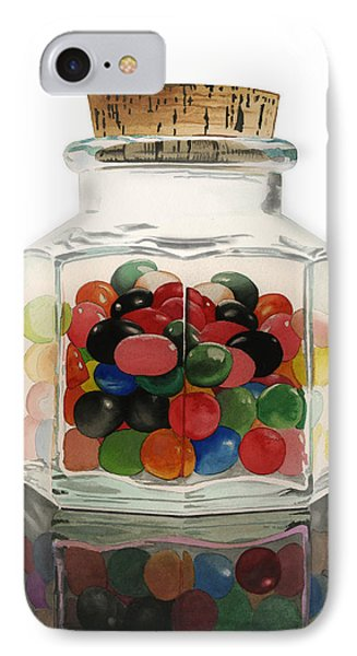 IPhone Case featuring the painting Jar Of Jelly Bellies by Ferrel Cordle