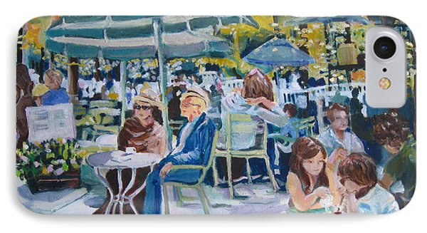 IPhone Case featuring the painting Jardin Du Luxembourg by Julie Todd-Cundiff