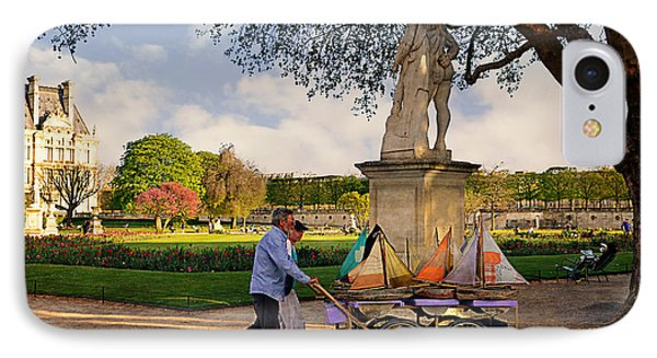 Jardin Du Luxembourg  IPhone Case by Maria Angelica Maira
