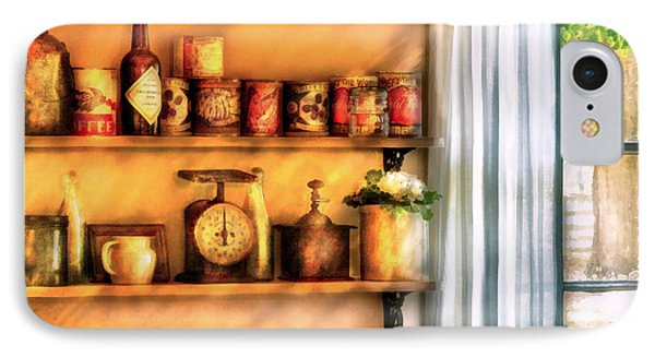 Jars - Kitchen Shelves Phone Case by Mike Savad