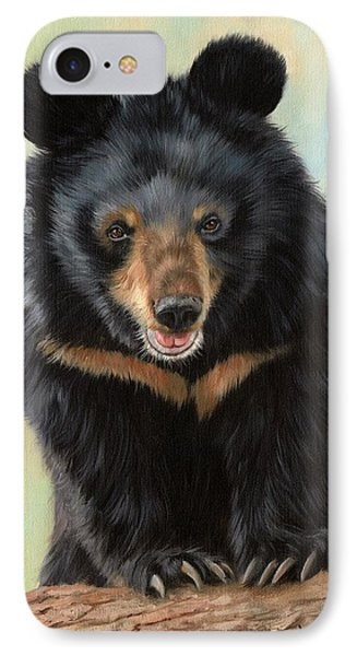 Jasper Moon Bear - In Support Of Animals Asia IPhone Case by David Stribbling