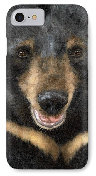 Jasper Moon Bear - In Support Of Animals Asia IPhone Case by Rachel Stribbling