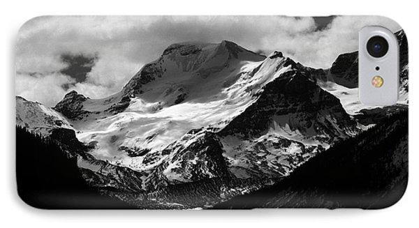 Jasper - Mt. Athabasca Monochrome IPhone Case