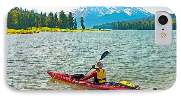 Jasper Park Kayaker Phone Case by Dennis Cox WorldViews