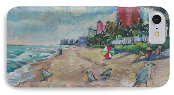 Jaunty Beach Birds IPhone Case by Linda Novick