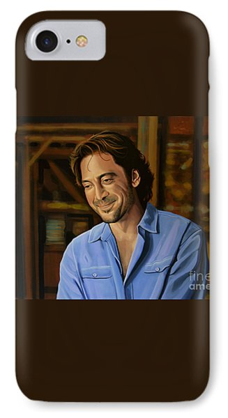 Barcelona iPhone 7 Case - Javier Bardem Painting by Paul Meijering