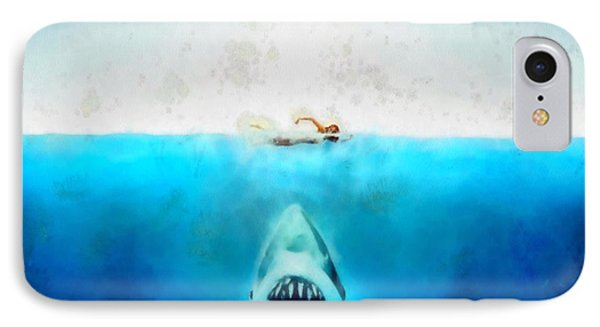 Jaws IPhone Case by Elizabeth Coats