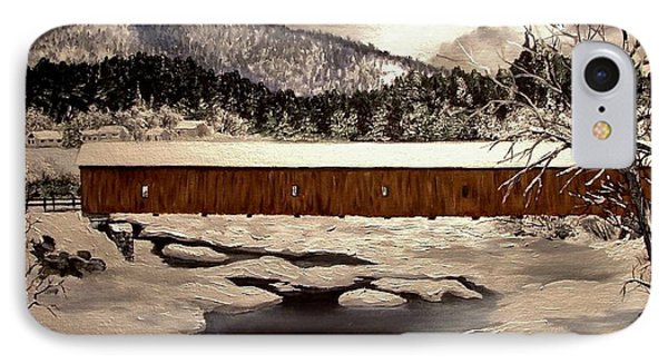 Jay Covered Bridge Phone Case by Peggy Miller